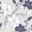 Stock Vector: Seamless vintage pattern with magnoliflower