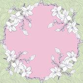 Okrasné květinové paisley šátek — Stock vektor