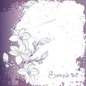 Pozadí magnolia květiny nebo pozvánky — Stock vektor