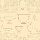 Keramik ethnischen, nationalen griechischen stil nahtlose muster — Stockvektor