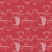 Patrón sin costuras cerámica étnica nacional estilo griego — Vector de stock