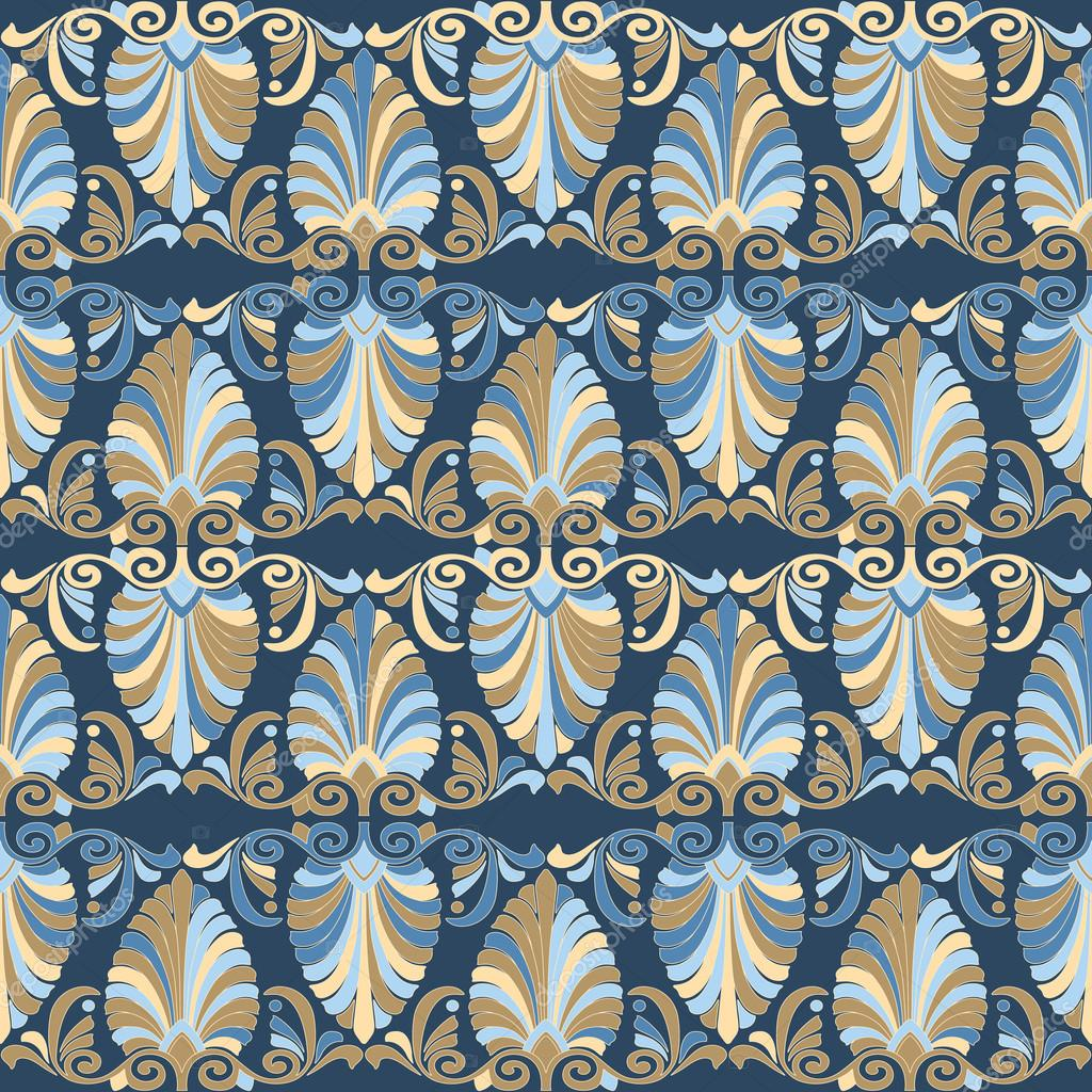Stock Illustration Seamless Greek Art Nouveau Pattern on art nouveau patterns