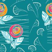 Naadloze vintage roos patroon achtergrond — Stockvector