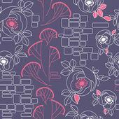 Decoratieve naadloze patroon met rozen — Stockvector