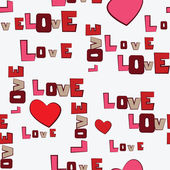 Valentine's Day Hearts Love seamless pattern — Vector de stock