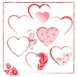 Valentines day templates elements — Stock Vector