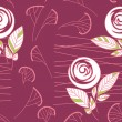 Seamless vintage rose pattern background — Stock Vector