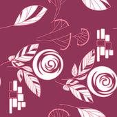 Plano de fundo sem costura vintage rosa padrão — Vetor de Stock