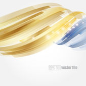 Abstract bright blue and gold background Vector — Stock Vector