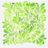 Abstracte achtergrond met helder groen krullen en swirl — Stockvector