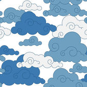 Vintage cloud Chinese seamless pattern — Stock Vector