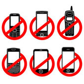 No phone vector sign set — Stock Vector