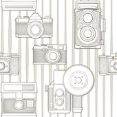 Vintage seamless pattern with camera — Stock Vector