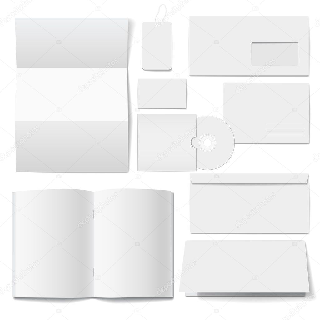 Blank Stationery And Corporate Identity Template Consist: Corporate Identity Templates Selected Blank