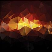Driehoek concept ontwerp mozaïek vectorillustratie — Stockvector