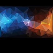 Triangle concept design Mosaic vector illustration — Stock Vector