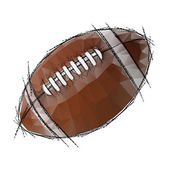 American Football isolated on a white background — Stock Vector
