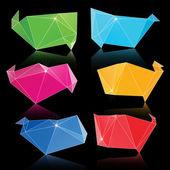 Vektorové módní crystal trojúhelník banner obrazce — Stock vektor