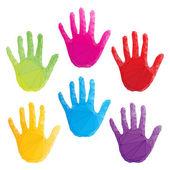 красочные рука выводит вектор, циклопические искусства — Cтоковый вектор
