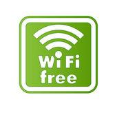 Connessione internet wifi e firmare con bordo quadrato — Vettoriale Stock
