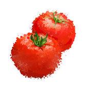 Red tomatos vector illustration of blots — Stock Vector