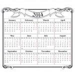kalender raster 2014 lege sjabloon — Stockvector