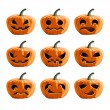 Set vector pumpkins for Halloween — Stock Vector #32758475