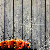 Halloween Party Background with Pumpkin — Stock Vector