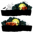 Halloween vector banner set — Stock Vector