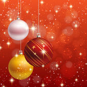 Christmas ornament vector background card — Stock Vector