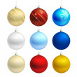 Empty christmas bauble templates vector — Stock Vector