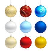 Empty christmas bauble templates vector — Stock Vector