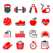 Fitness club icons set vector — Stock Vector