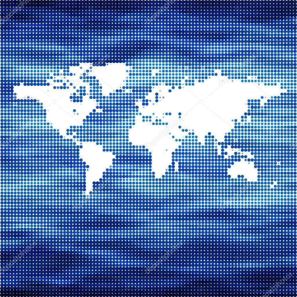 世界海洋矢量地图概念