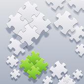 Abstract blank puzzles concept vector — Stock Vector