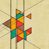 三角形复古抽象背景矢量 — 图库矢量图片