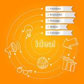 Inspiration idea concept modern design template — Stock Vector
