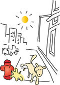 Dog Cartoons — Stock Vector