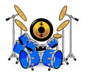Drums and Music Cartoons — Wektor stockowy
