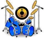 Drums and Music Cartoons — Stock Vector