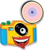 Camera Toy Cartoon — Vector de stock