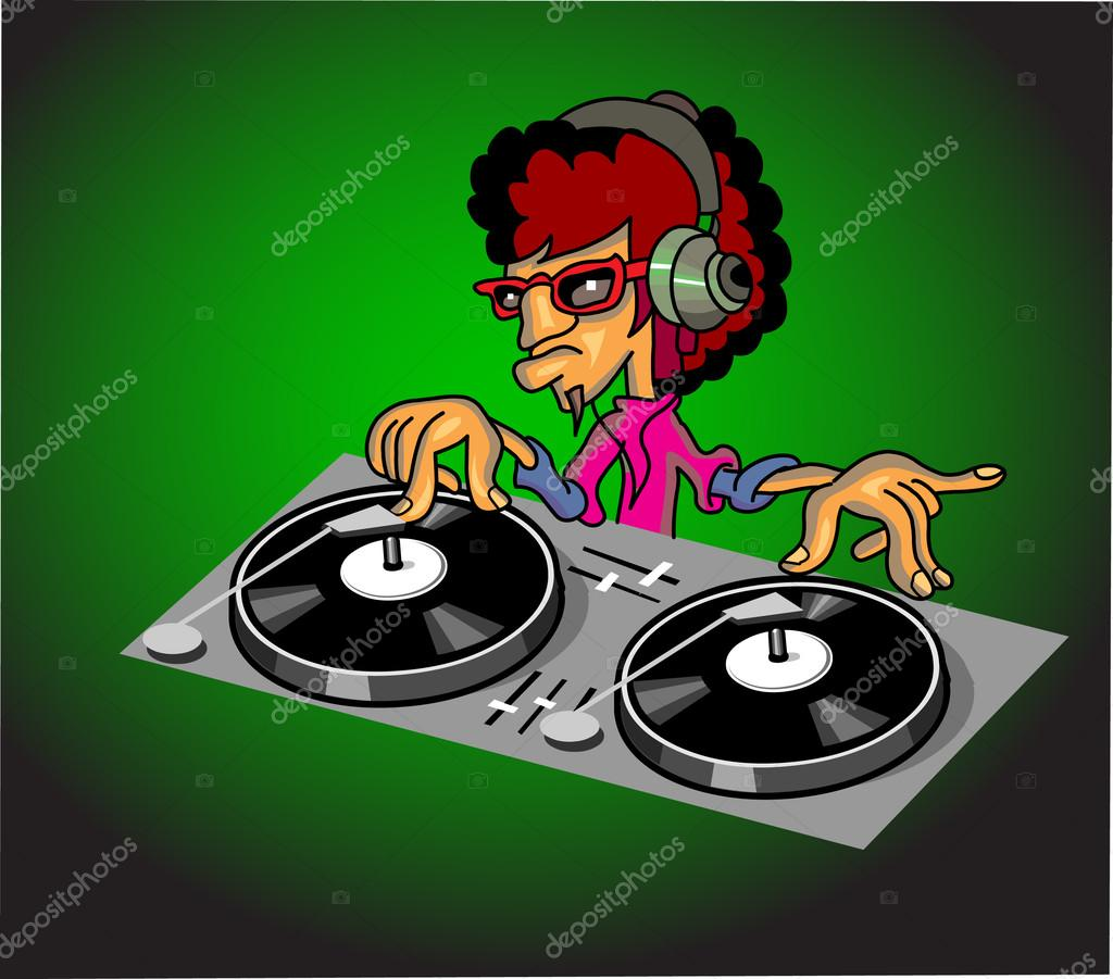 turntable dj items cartoon stock vector kk inc 49386345. Black Bedroom Furniture Sets. Home Design Ideas