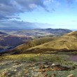 Breathtaking landscape from the summit of Scald Law, the highest peak in Scotland's Pentlands Hills - Stock Photo