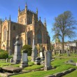 13th Century Dunfermline Abbey in Fife, Scotland - Stock Photo