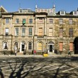 Townhouses on Charlotte Square in Edinburgh, Scotland - Stock Photo