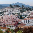 Ultra wide panorama of the picturesque tourist resort of Nerja on Andalusia's Mediterranean coast — Stock Photo
