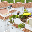 Spanish rooftop terraces - Stock Photo