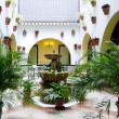 Stock Photo: Spanish courtyard