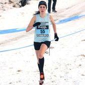 Female distance runner — Stock Photo