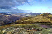 Breathtaking landscape from the summit of Scald Law, the highest peak in Scotland's Pentlands Hills — Stock Photo